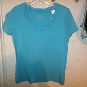 Chico's Twisted Collar Cotton Tee NWT XS/S